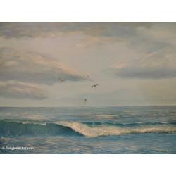 Seagulls Diving - Prints -...