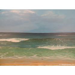 Sandpiper and Waves - Original