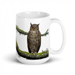Great Horned Owl Mug 15oz